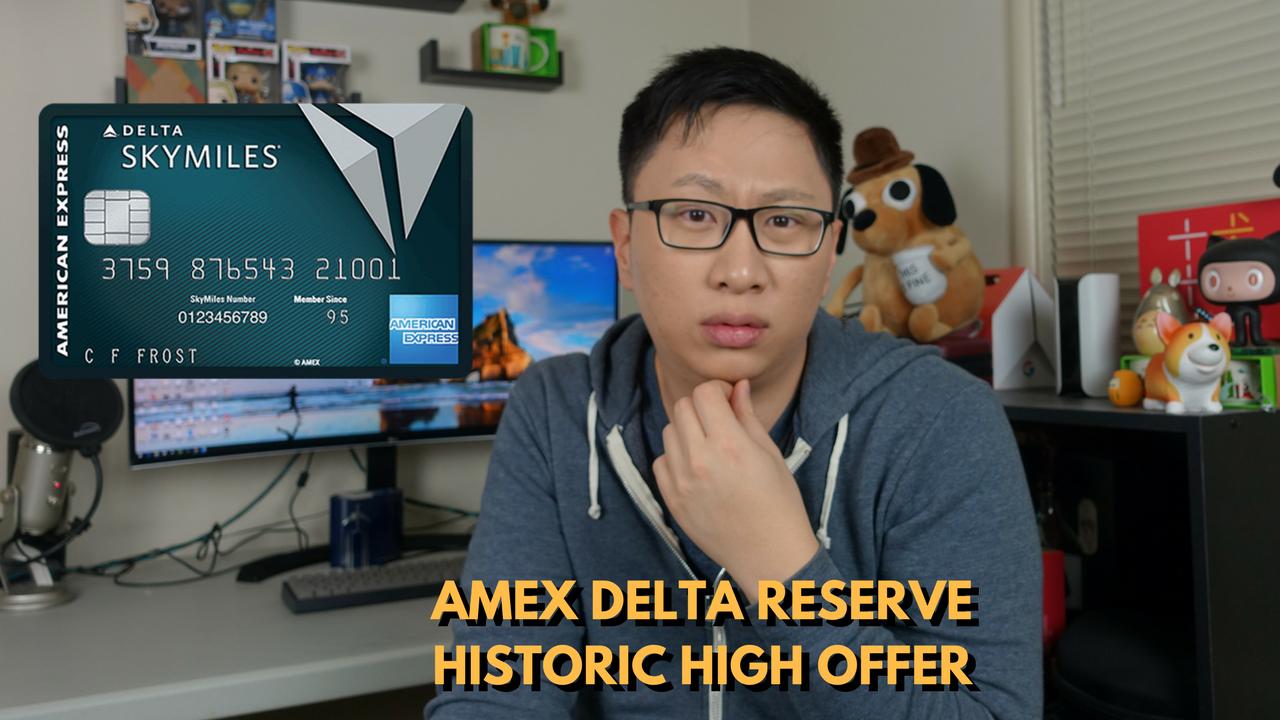 American Express Delta Reserve Credit Card Historic High 40k Delta SkyMiles + 10k MQMs Signup Bonus (Expires 4/11/2018)