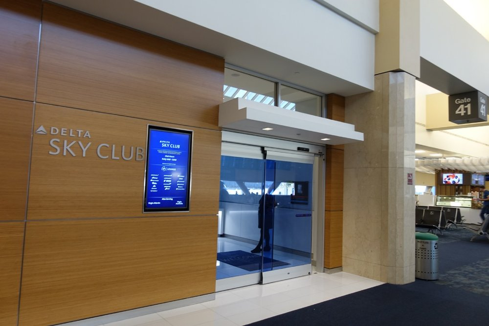Delta Sky Club located right next to Gate 41