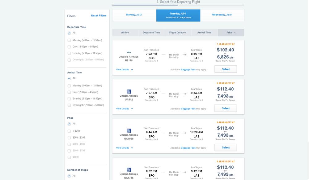 via Chase Ultimate Rewards travel portal