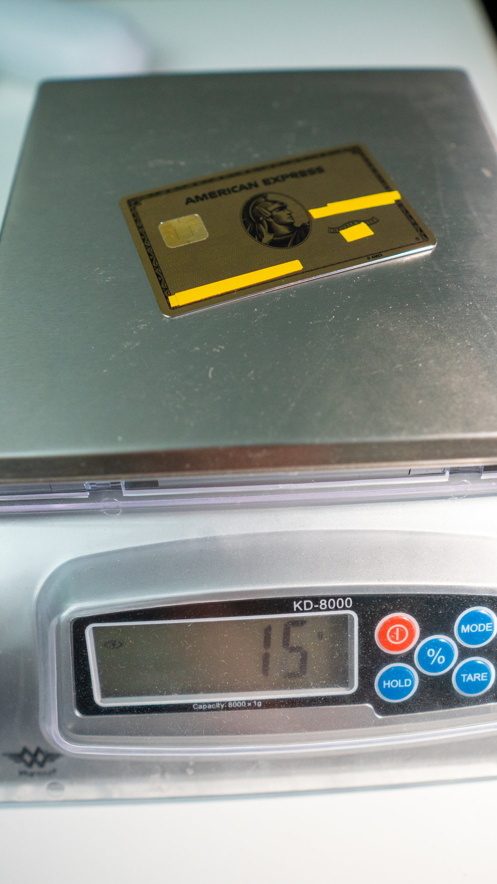 amex gold card weight
