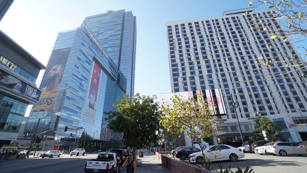 JW Marriott/Ritz on the left, and Residence Inn/Courtyard marriott on the Right
