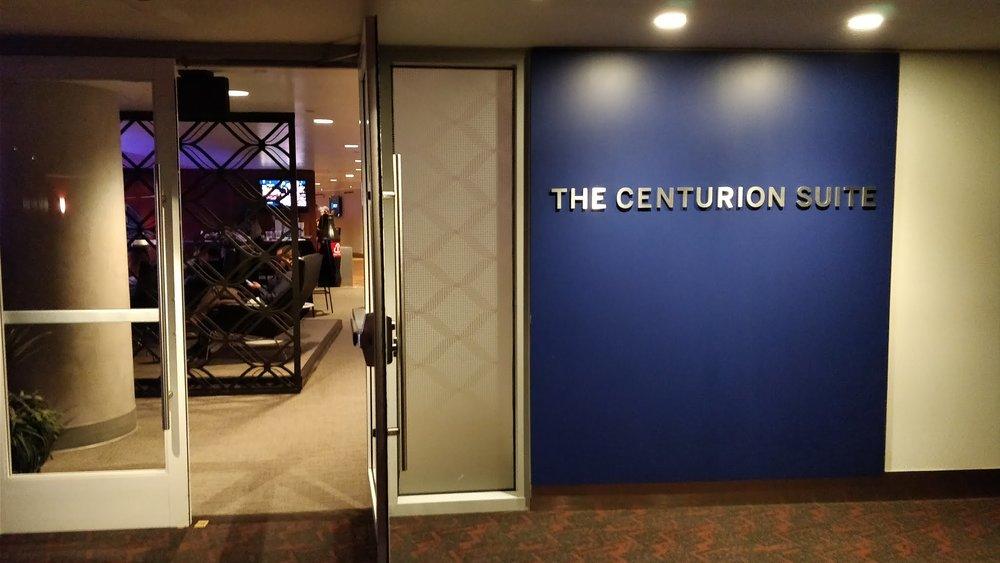 centurion suite entrance
