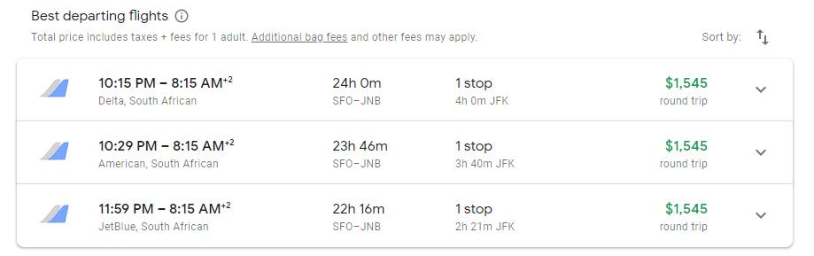 via google flights