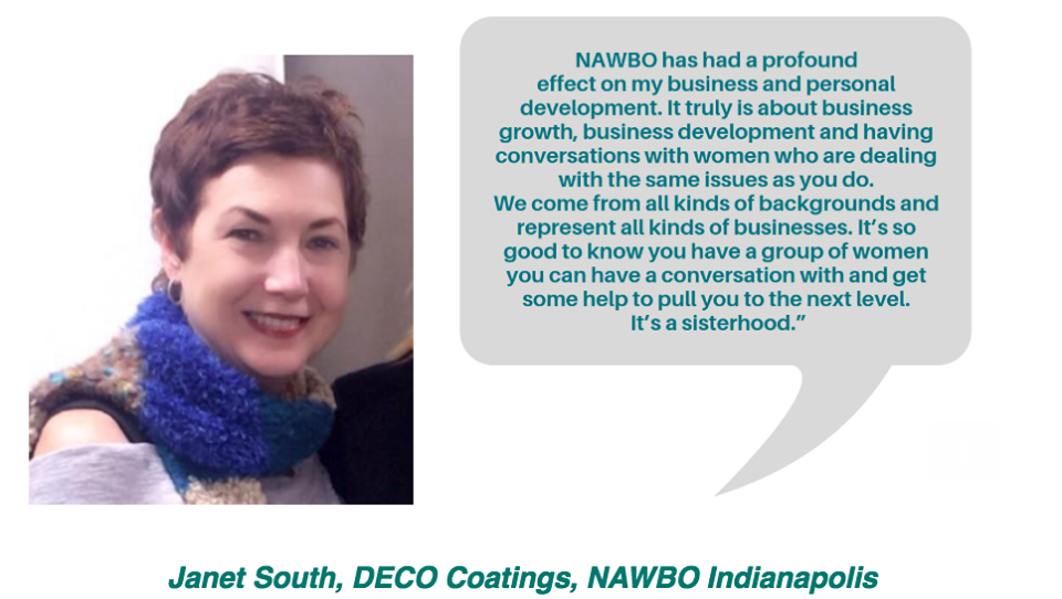 Janet South on NAWBO - Asked how NAWBO has impacted her personally, and professionally, Janet shared her experience with the readers…