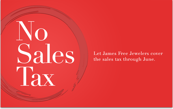 Artwork for monthly eblast to promote no sales tax special