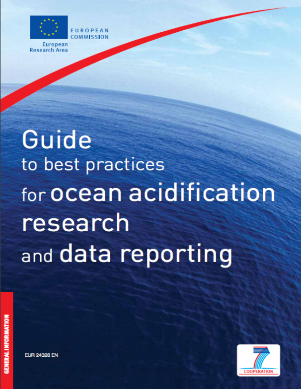 Riebesell U., Fabry V. J., Hansson L. & Gattuso J.-P. (Eds.), 2010. Guide to best practices for ocean acidification research and data reporting, 260 p. Luxembourg: Publications Office of the European Union.
