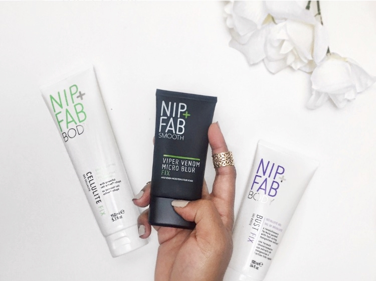 nip and fab cellulite bust fix primer flatlay
