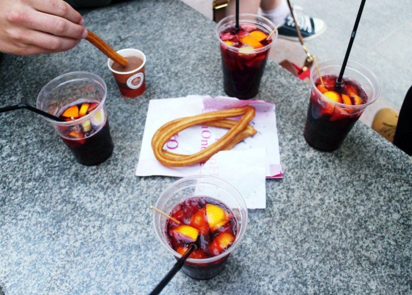 Sangria and churros, Madrid, Spain