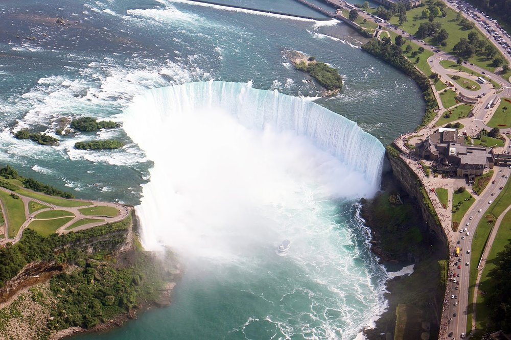 Helicopter ride over Niagara Falls, Canada