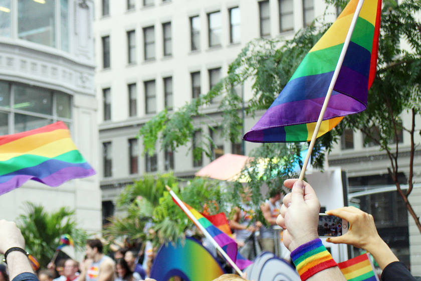 Pride Parade in New York City on 5th Avenue