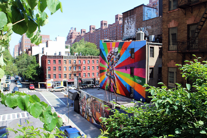 View from the High Line, Chelsea, New York