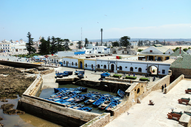 View from Old Portugese Fort in Essaouira, Morocco