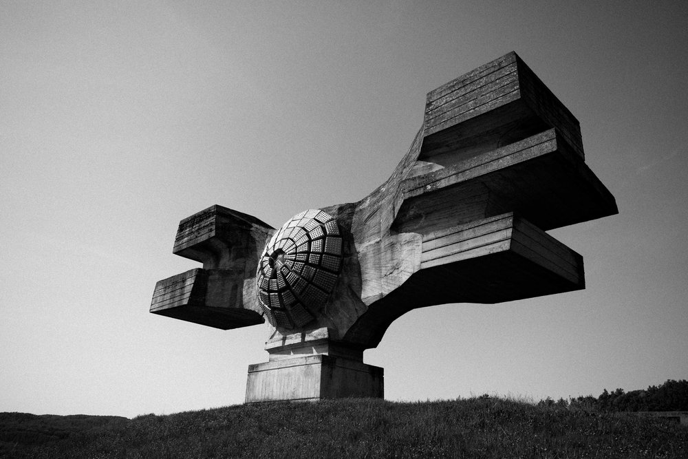 Monument to the Revolution of the People of Moslavina , Podgarić, Croatia. Photo: Pierre David.