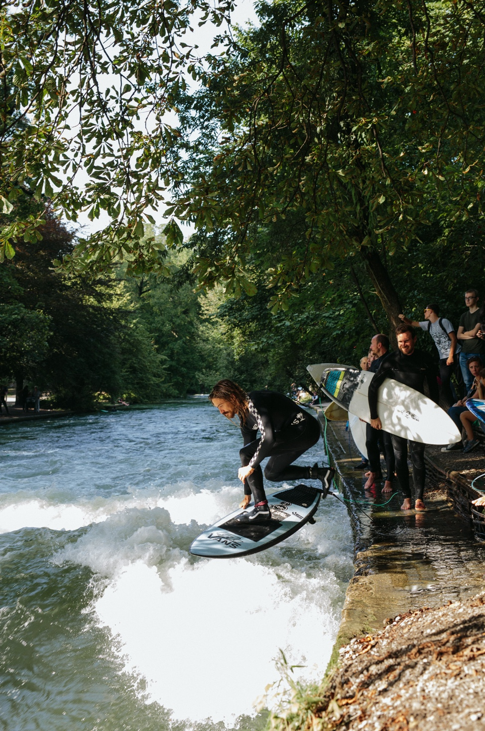 """The """"mini ramp etiquette"""" illustrated by Dylan Graves at The Eisbach."""
