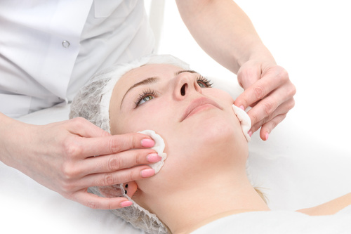 Finishing cosmeceutical and peel treatment at Cotswold Face Aesthetics