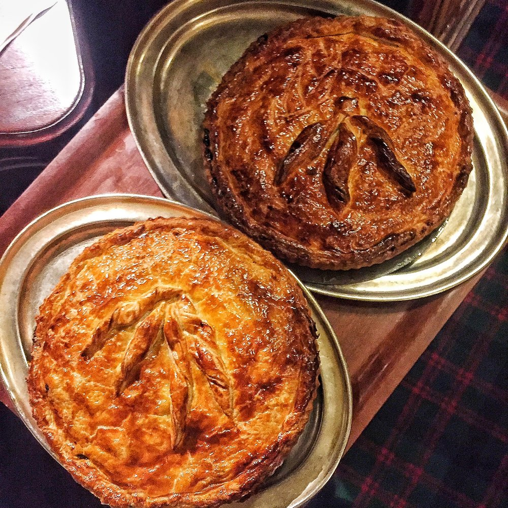 Game pies at the Guinea Grill