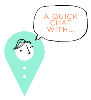'A quick chat with'