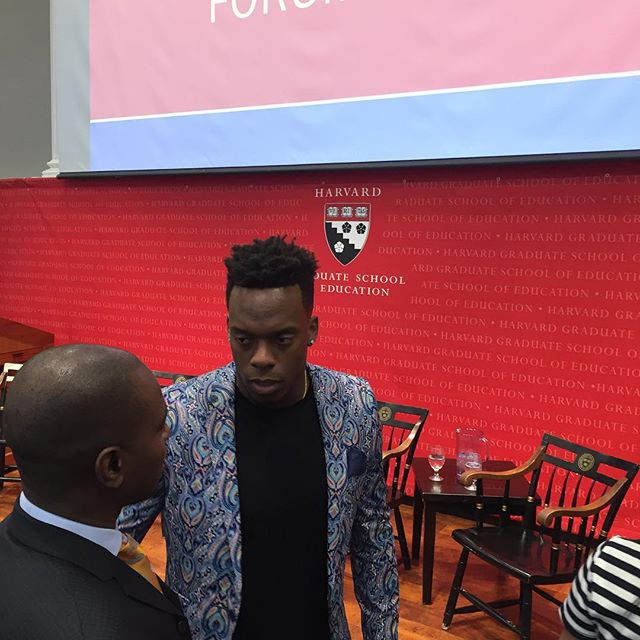 Brandon Marshall in the house! #hgse #definedefydismantle #aocc2017