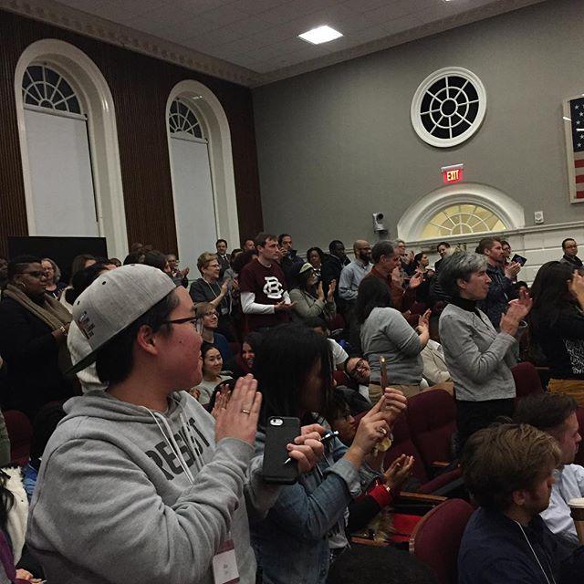 Standing ovation for Brandon Marshall #aocc2017 #definedefydismantle #hgse