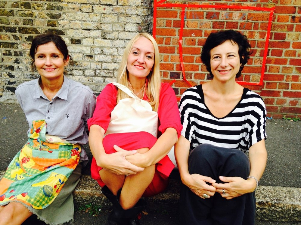 hARTslane directors: from left, Sigrun Sverrisdottir, Tisna Westerhof and Cristiana Bottigella (photo: Rachael House)
