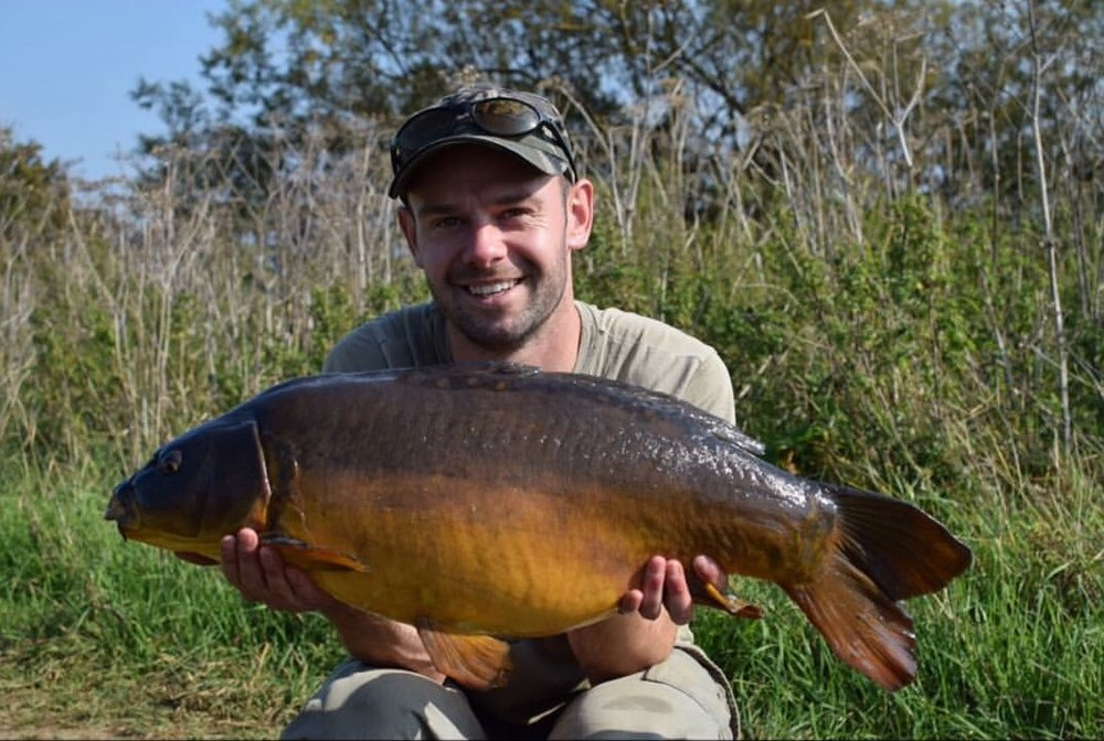 James with a surface-caught mirror