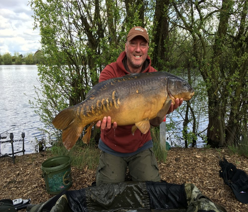 Ian with a lovely mirror which fell to these tactics