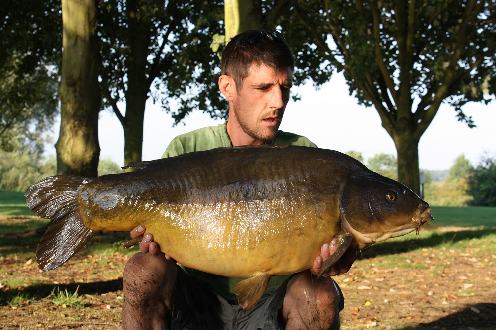 A 34lb leather
