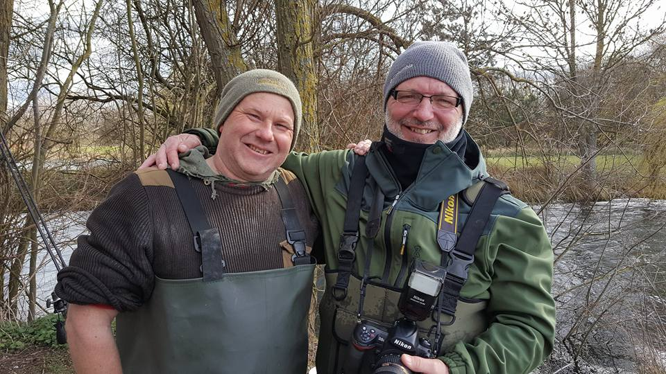 Gary (left) with legendary angling photographer Mick Rouse, who captured the events