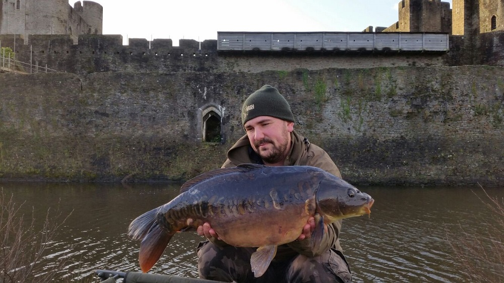 Andrew Riste with a Caerphilly cracker