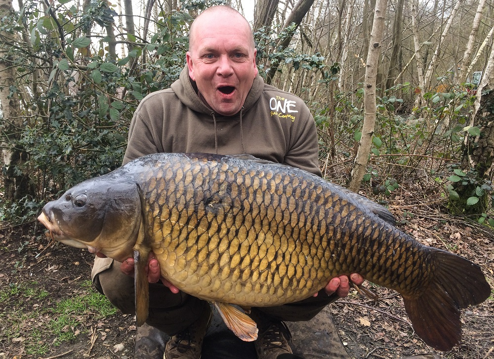 No wonder Paul White is shocked at this 43lb common