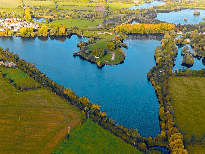 The society's iconic Horseshoe Lake in Lechlade