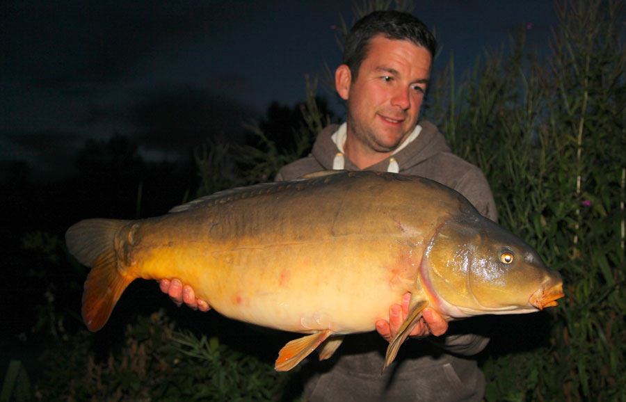 Mark Bryant with a big Millbrook mirror
