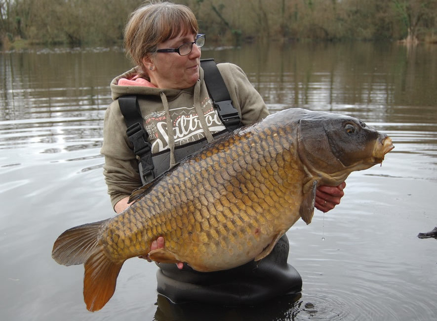 Jayne was on hand to land this 40lb common