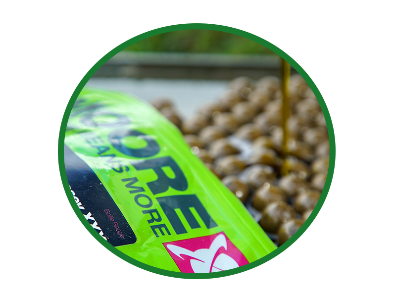 Ensure all the baits are evenly glazed and have become sticky to the touch.