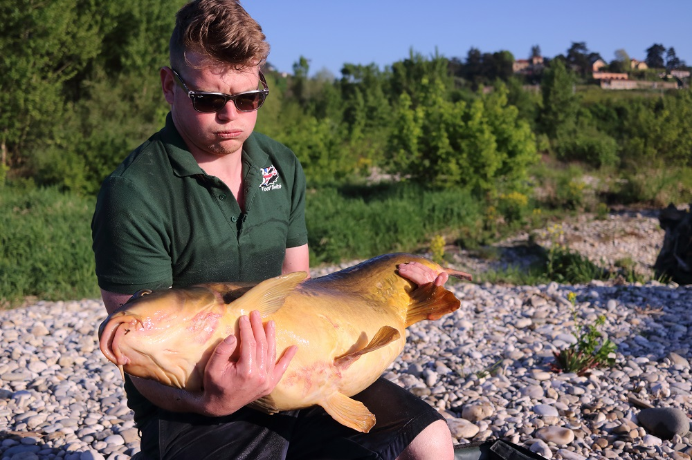 James cradles his chunky 45-pounder