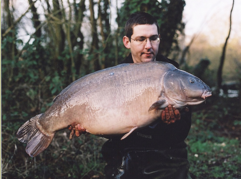 Lewis with Heather the Leather during his Yateley Car Park Lake days