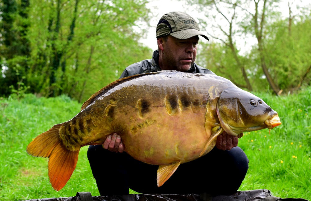 This 56lb 14oz mirror hadn't been caught for half a decade