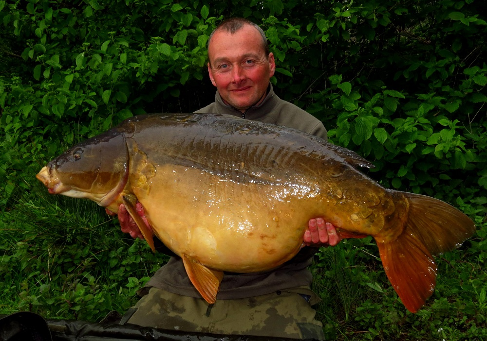 56lb 8oz of Wingham mirror carp