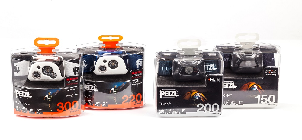 The Petzl headtorch range