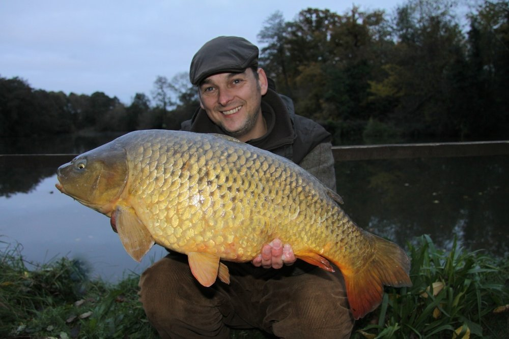 Stu Harris with a current Redmire common