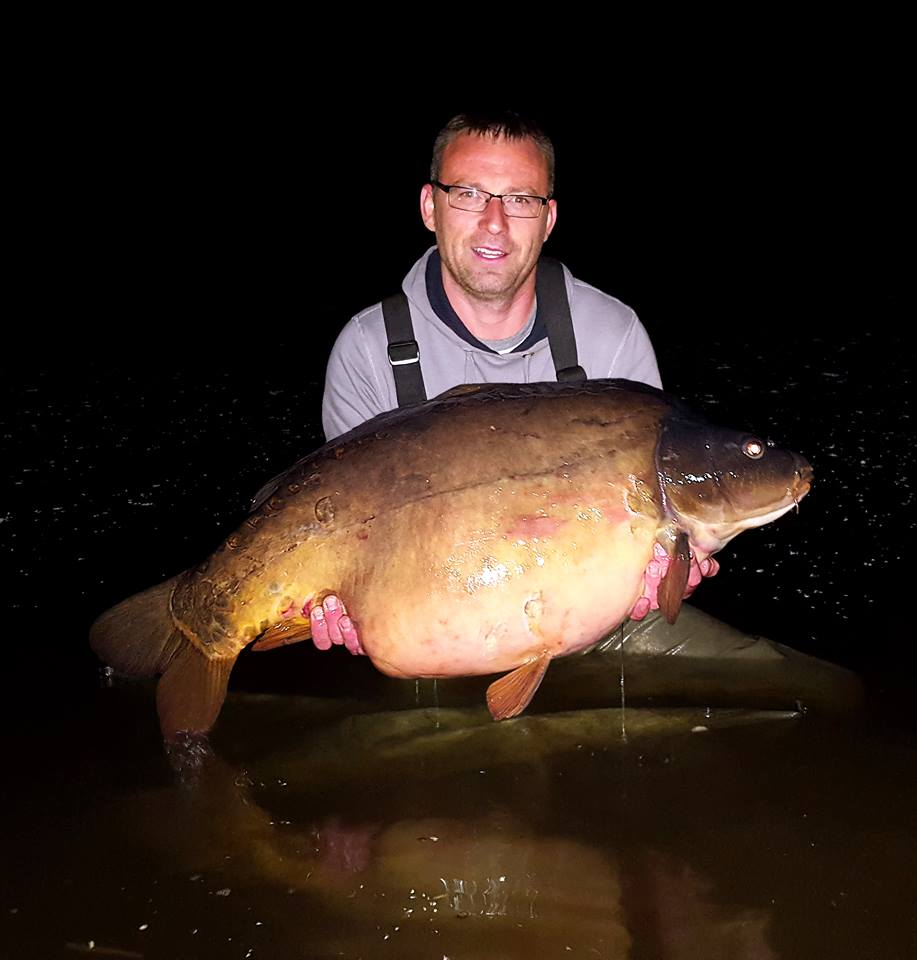 The same fish was caught at 50lb 1oz last June