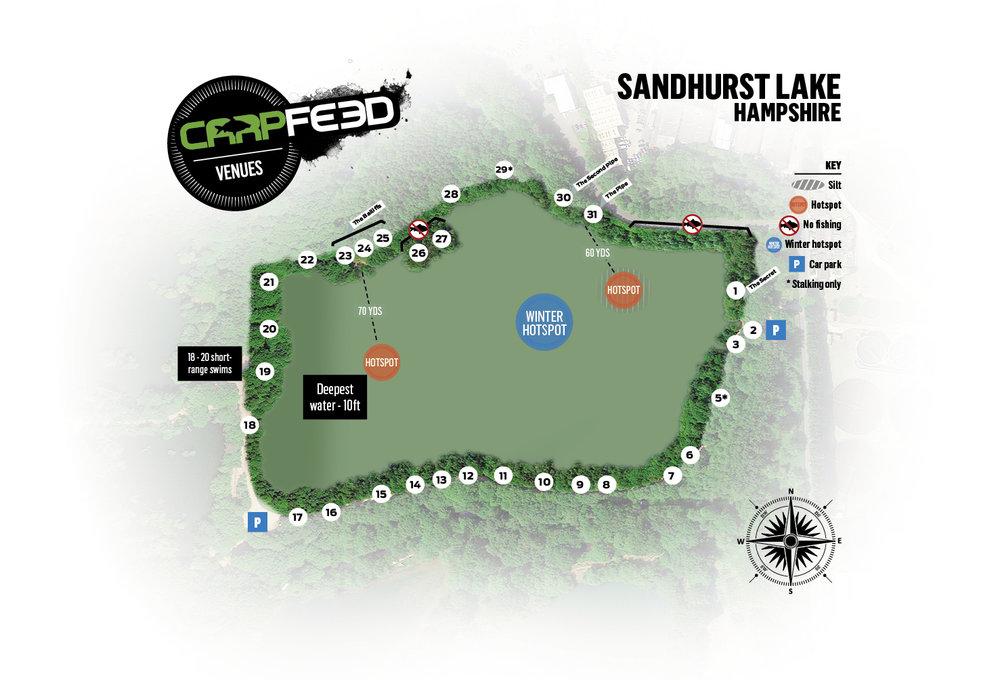 Sandhurst lake map