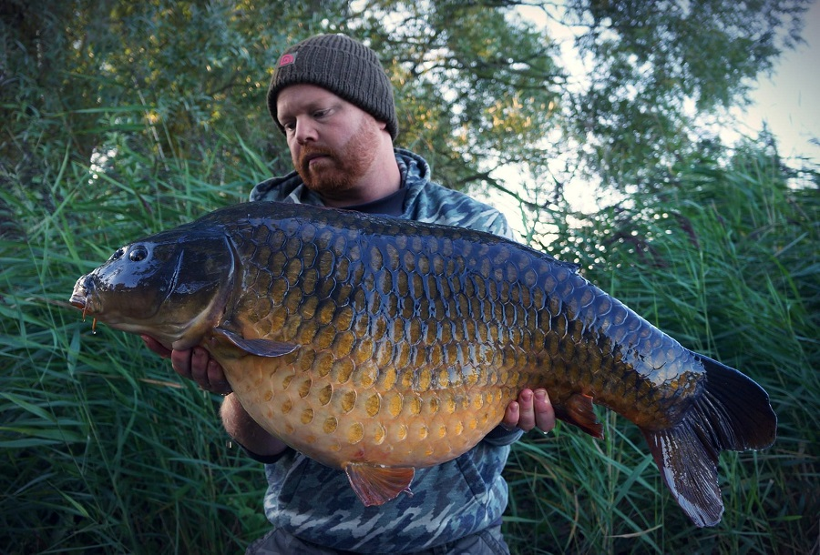 Lee Crampton with his 40lb common