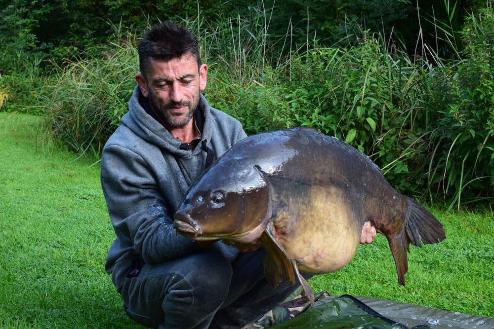 Darren returned at the weekend to bank Alfie at 43lb 12oz