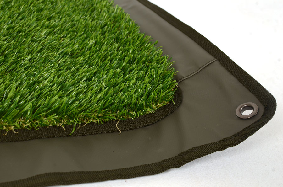 A waterproof base and a fake-grass top
