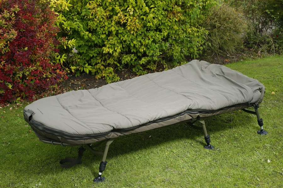 The new Benchmark bedchairs have sleeping-bag systems