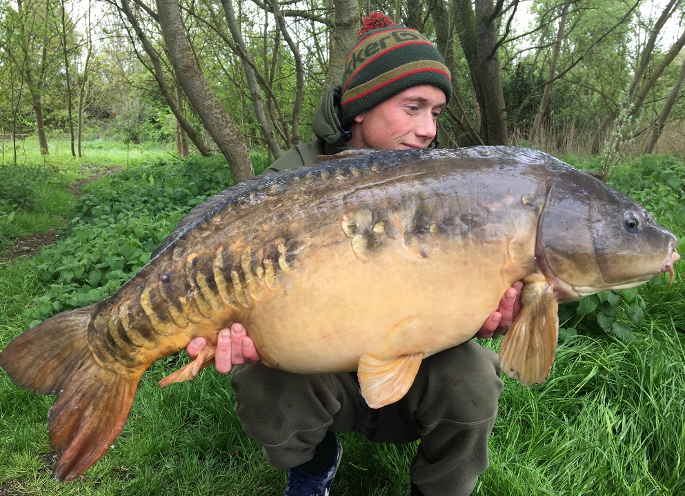 A 38lb 10oz mirror called Mojo from earlier in the season for Matt