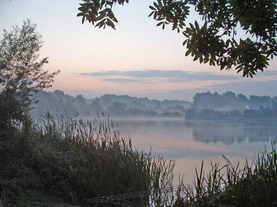 Dawn over the Main Lake. (Photo: Julian Grattidge/winghamfisheries.co.uk)