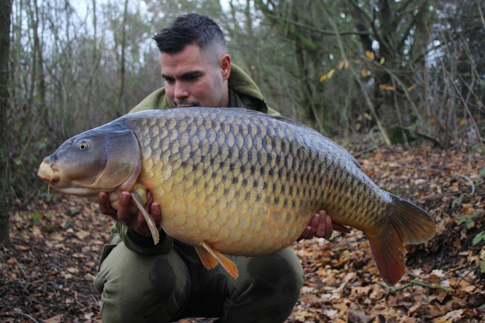 Marc's 40lb 4oz common just minutes after casting out
