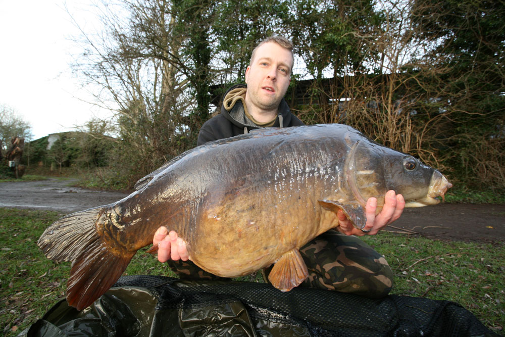 Danny Speight with JD at 30lb 12oz